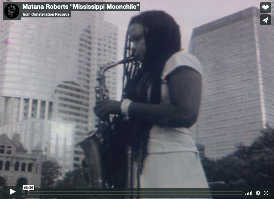 "Matana Roberts, ""Mississippi Moonchile,"" *Coin Coin*. Directed by Radwan Moumneh."